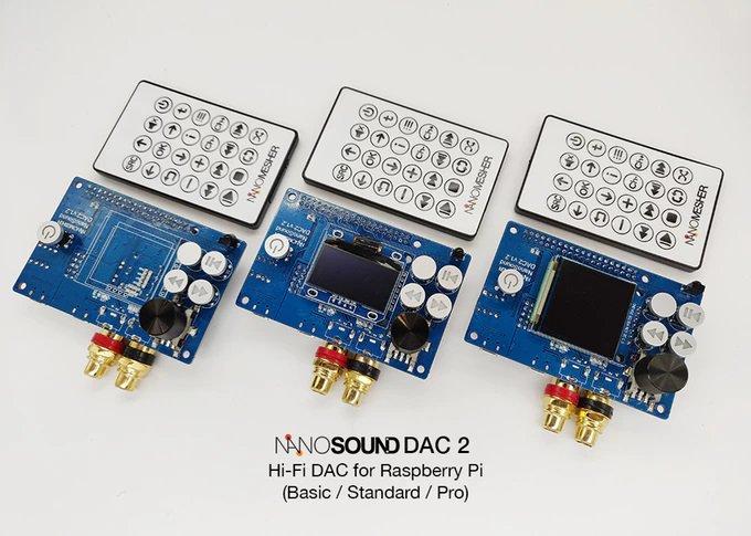 Nanomesher 第二代树莓派DAC 产品NanoSound DAC 2 登场,采旋转音量、高精度时钟与发烧音响电容